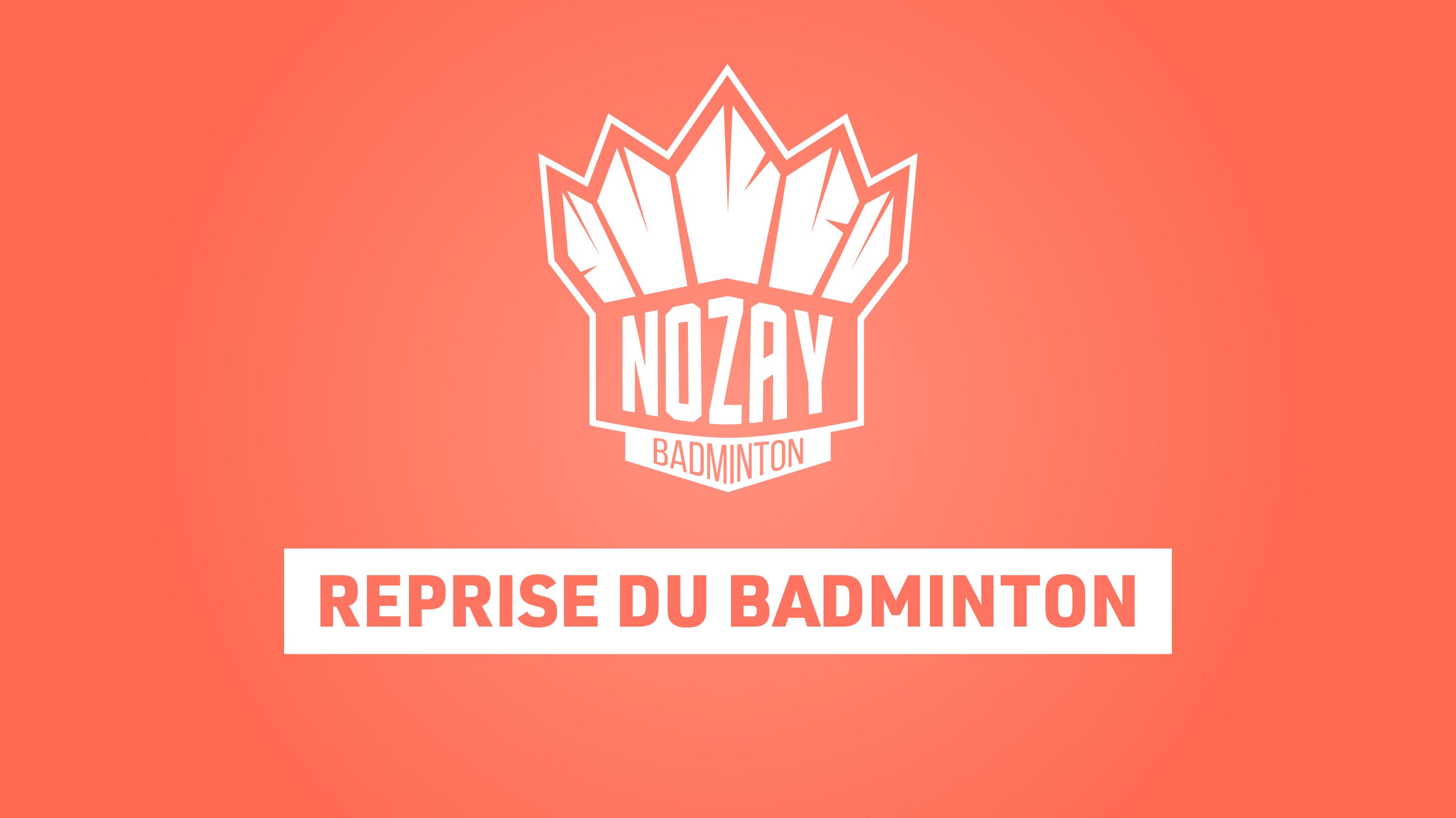 Reprise du badminton et réservation de créneaux