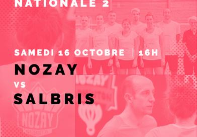 Interclubs Nationale 2 – J2 : Nozay vs Salbris